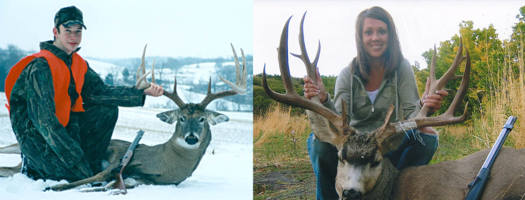 One of the many benefits of belonging to the National Muzzle Loader Rifle Association is the opportunity to join the Longhunter Society. This is an elite group of NMLRA members who have taken record-size North American big-game animals with a muzzleloader, such as John Russell with his 172 4/8 whitetail and Jamie Smith with her 177 6/8 mule deer. [photos courtesy of NMLRA]